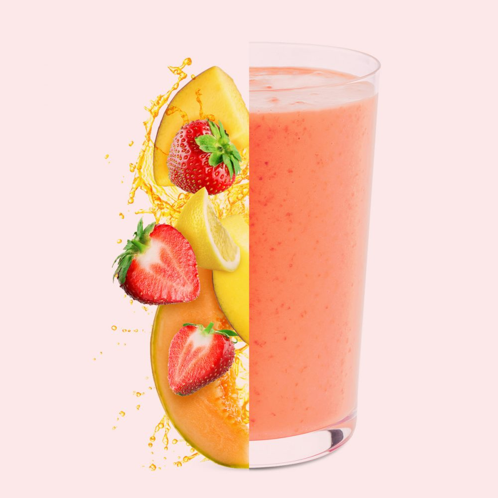 Caribbean fruit frozen smoothie