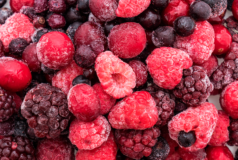 The benefits of frozen fruit