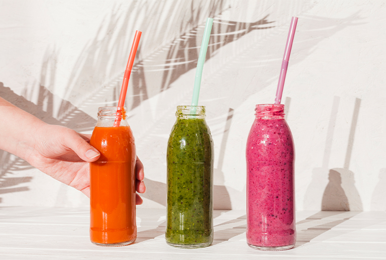Quick smoothies, combinations for when you're in a hurry